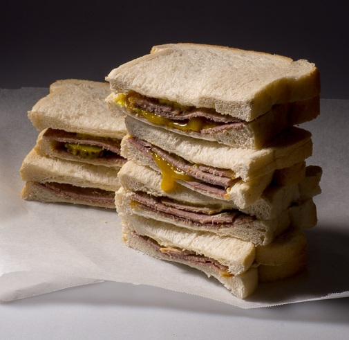Left-over sandwiches for sandwich pie